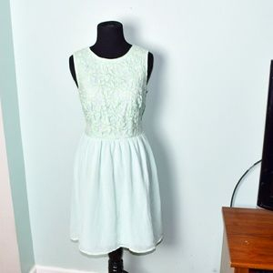 Urban Outfitters Ice Blue Flowy Dress